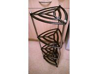 CAST IRON AND SOLID STEEL PAN STAND. SUIT LE CREUSET. 4 TIER
