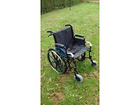 "Z Tech Extra Wide Steel Wheelchair 22"" Seat"