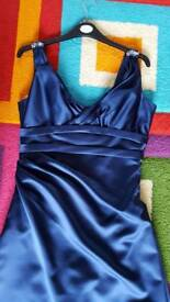 Designer Sophia Tolli Dress Size 10 Navy Occasional, Prom, Bridesmaid