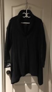 Danier sweater coat with leather sleeves - size medium