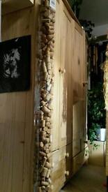Double wardrobe, pine wood