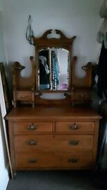 Dressing Table,Satin wood and brass handles