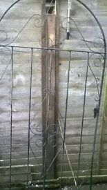 6ft wrought iron gate with hinges
