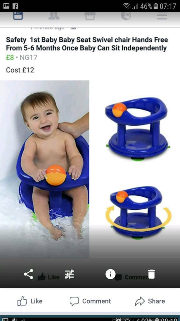 Safety 1st baby bath seat blue