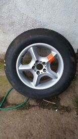 Bmw x3 x5 alloy wheel and tyre.