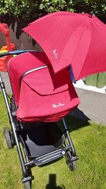Silver Cross PRAM AND PUSHCHAIR - RED / GRAPHITE 2016 - excellent condition