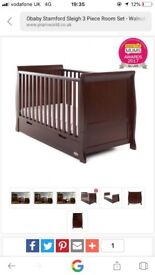 Obaby cotbed set