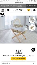 Moses Basket & Baby Girl Clothes
