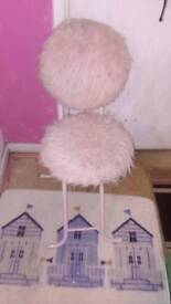 Used fluffy pink chair