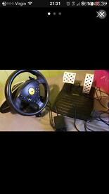 Sony PlayStation 2 steering wheel