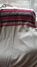 Curtains - Eyelet and lined, cream and red