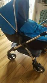 Silver cross wayfarer carrycot part and chassis only