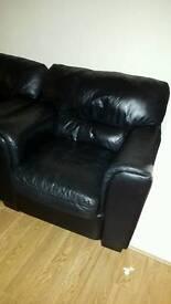 Leather Armchair (Black)
