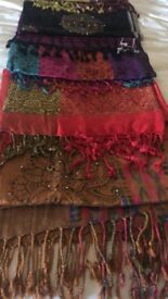 Authentic Indian pashmina scarves