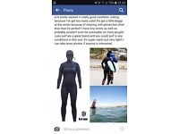 6/4 ladies winter hooded wetsuit size 8