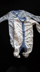 Baby boy New NEWBORNE sleepsuit