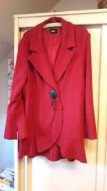 Ladies Red Per-Una Coat