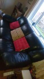 Leather three seater