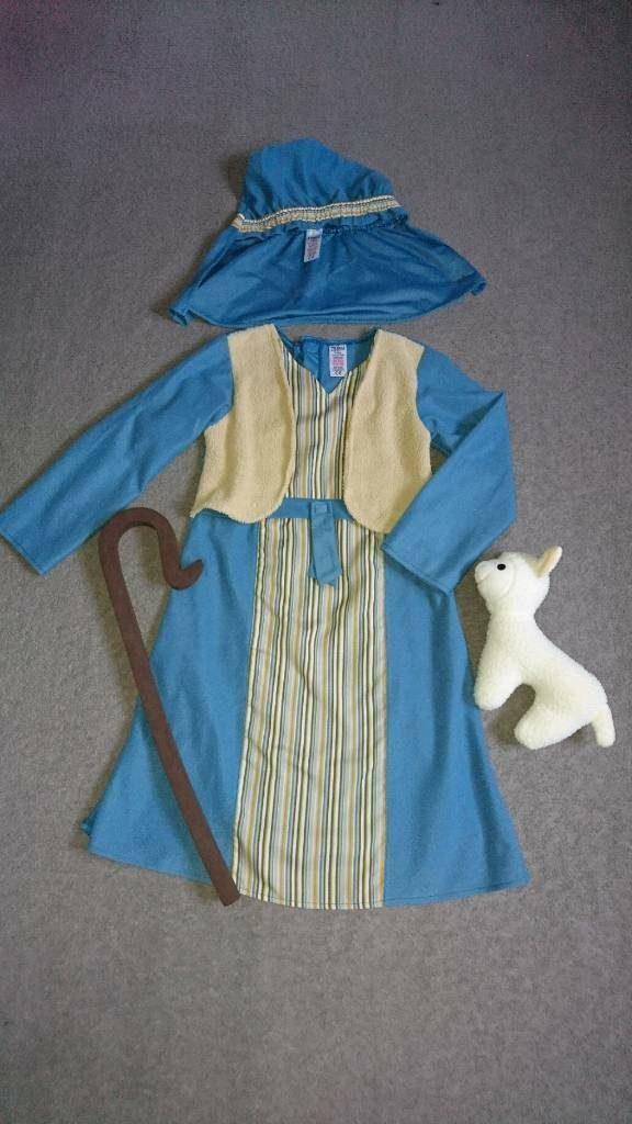 Shepherd Outfit Fancy dress Costume Age 7-8 Years