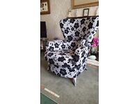 Designer Arm Chair and foot stool