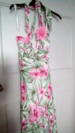 New dress calf length white green,and pink 12
