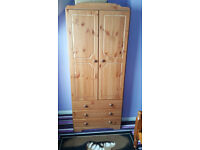 Bedroom furniture set, x2 Wardrobes, x2 Chest of Drawers, x2 Bedside drawers