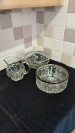 Antique Glass Bowls and Jug