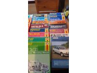 34 classic car Manuels for sale will sell separate no time wasters please reasonable offers
