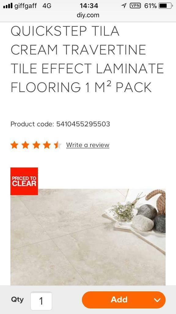 CHEAP LAMINATE FLOORING 12 packs of quickstep tavertine ...