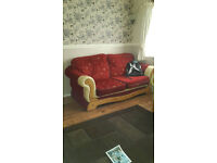 DFS Sofa Half Leather 3 Seater & 2 Single Sofa Armchair Wooden frame/feet can arrange delivery local