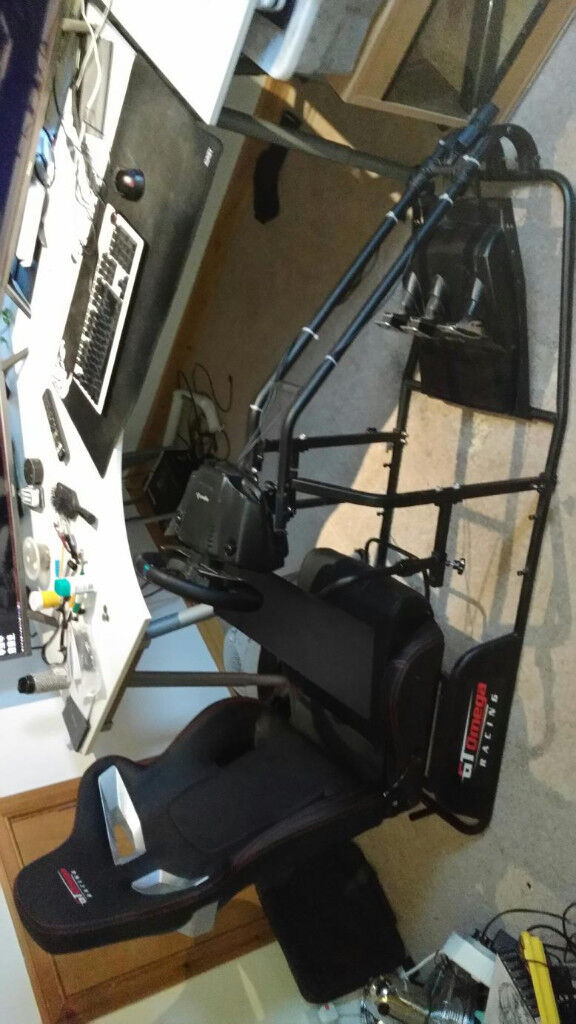 GT Omega RS9 Logitech g29 ThrustMaster TH8A Sim racing setup Over £700 new!  | in Leven, Fife | Gumtree