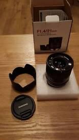 Fujifilm samyang 21mm f1.4