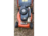 Petrol lawnmower & battery strimmer for sale