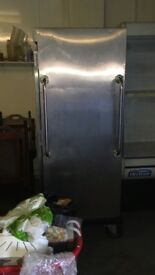 Stainless steel single door commercial catering fridge chiller