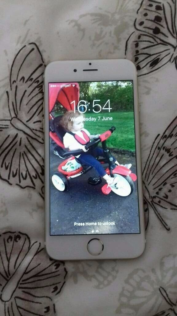 IPHONE 6S 64GB GOLDin Cumnock, East AyrshireGumtree - Iphone 6s Gold 64gb Unlocked Selling my phone due to upgrading. Comes with charger only Iphone 6s in Gold, no faults, few age related marks, just had a new screen and digitiser as the touch screen started to play up but now working perfect with a...