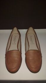 Accessorize Tan Loafers (Size 6) - £14.50 - Brand new