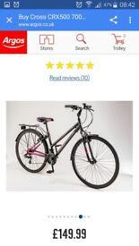 Brand new Ladies Cross CRX Hybrid Bike
