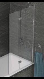 Brand new 2 panel in-fold shower screen