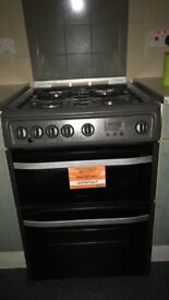 Hotpoint grey gas cooker & oven