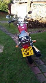 Yamaha 125 custom - low mileage-as new - easy riding at low cost