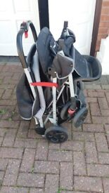 Double seater push chair