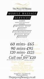 Mobile massage therapist- highly skilled and experienced