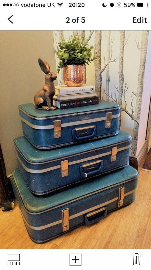 Set of Vintage Suitcases