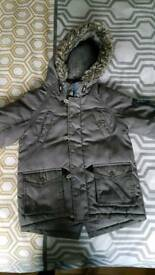Boys tu grey parka coat