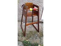 Wooden baby feeding chair