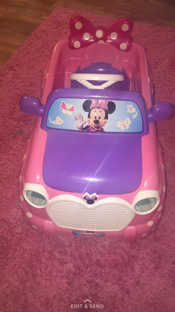 🎀Minnie Mouse Electric Ride on car 🎀