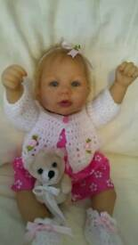 Ashton drake reborn baby girl with accessories