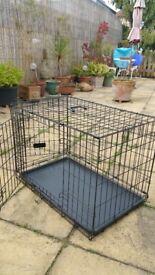 Medium Dog/pet metal crate; hardly used; foldable/portable