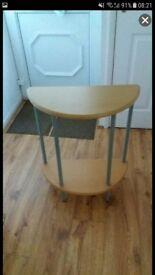 Small half moon table