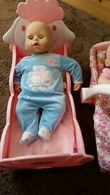 Baby annabell brother and sister good condition